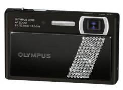 Olympus mju 1040 Crystal, fotocamera con fascetta di Swarovski