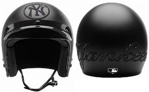 Casco da moto New York Yankees in Swarovski