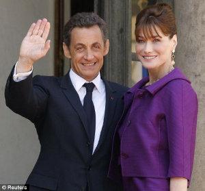 Nicholas Sarkozy e Carla Bruni ospiti de