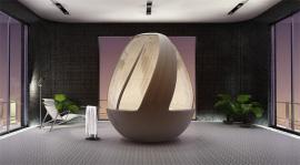 Roca Cocoon Shower Stall, nuova doccia a forma d'uovo