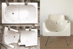 Bath & Beyond, la vasca da bagno riciclata