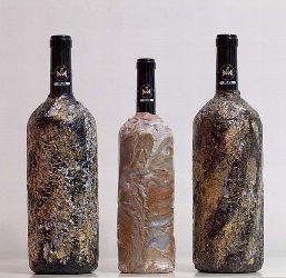 Preziose bottiglie decorate con la resina firmate Bespoke