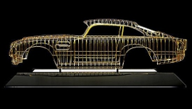 Aston Martin in oro, una scultura in edizione limitata