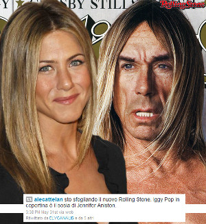 Jennifer Aniston come Iggy Pop, secondo Elisabetta Canalis. O Alessandro Cattelan?