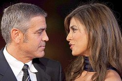George Clooney e Elisabetta Canalis in vacanza in Sardegna