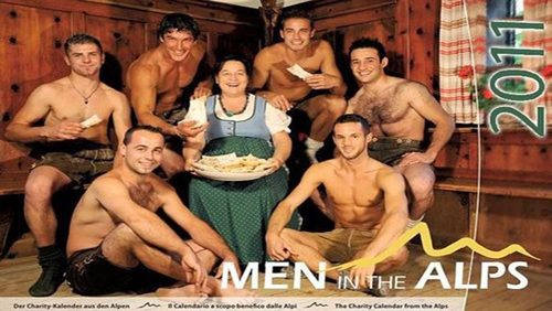 Calendario Men In The Alps 2011: uomini nudi per beneficenza