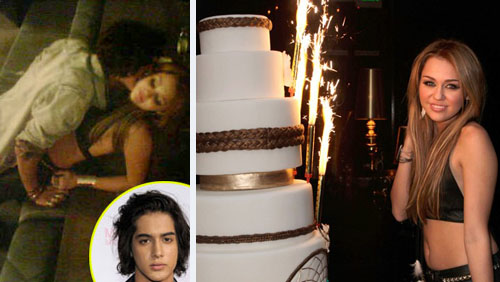 Miley Cyrus: baci hot con Avan Jogia