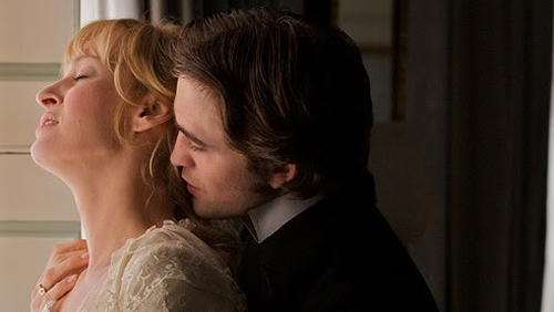 """Bel Ami"": Uma Thurman parla di Robert Pattinson"