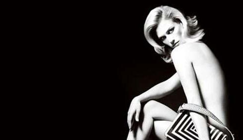 January Jones nuda per Versace