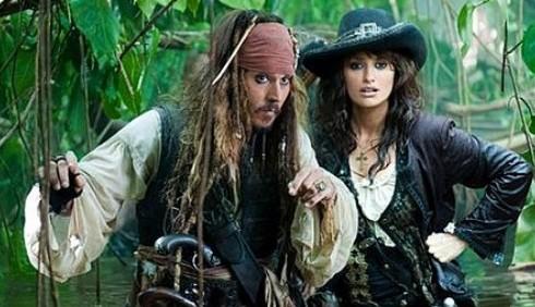 Pirati dei Caraibi 4: nuove foto con Johnny Depp e Penelope Cruz