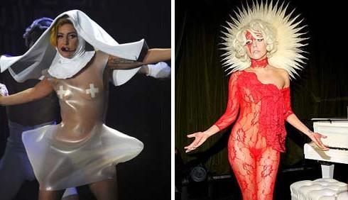 Moda: Lady Gaga, abiti religiosi a confronto