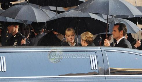 Prime foto di Emma Stone dal set di Spider-Man