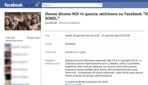 Facebook contro la mercificazione politica della donna