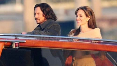 "Johnny Depp a Venezia per ""The tourist"""
