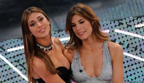 Abiti di Elisabetta Canalis e Belen Rodriguez a Sanremo 2011