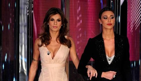 Sanremo 2011, terza serata: abiti di Elisabetta Canalis e Belen Rodriguez