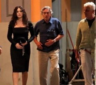 Monica Bellucci bacio con Robert De Niro