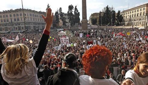 Proteste femminili in tutta Italia: foto