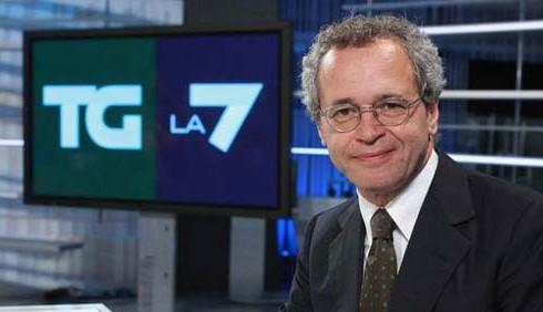Enrico Mentana vince l'Oscar TV per il TG di La7