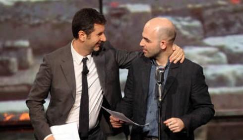 Roberto Saviano e Fabio Fazio, foto