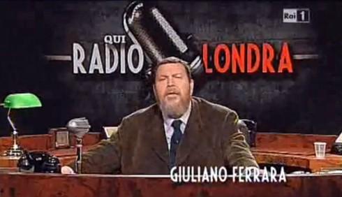 Giuliano Ferrara, Radio Londra: prima puntata sul Giappone