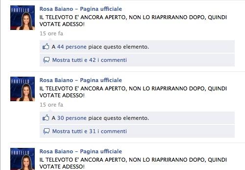 Televoto Rosa Baiano