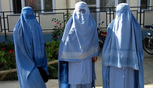 Donne con il burqa, foto