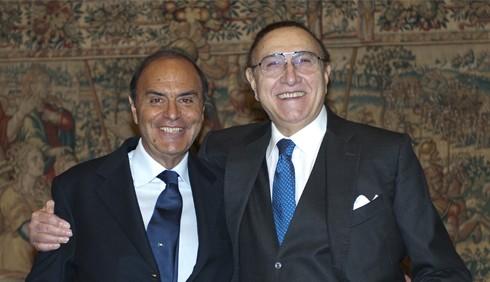 Pippo Baudo e Bruno Vespa: litigi e sputi per i 150 anni d'Italia
