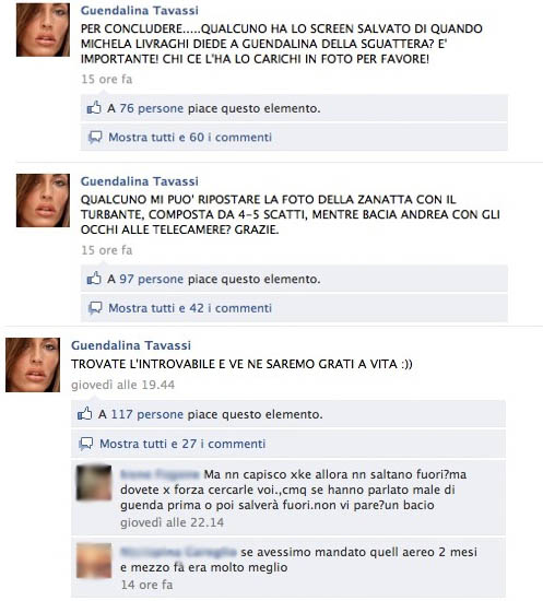 Guendalina Tavass su Facebook