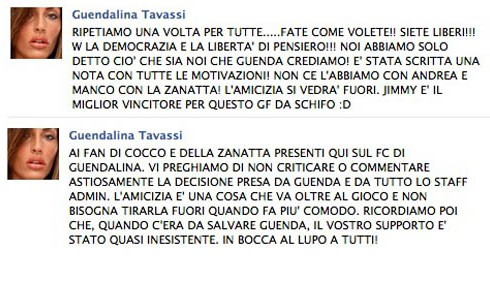 GF11: Guendalina Tavassi vota Jimmy Barba vincitore