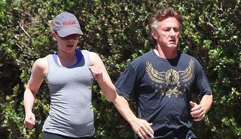 Scarlett Johansson e Sean Penn: jogging