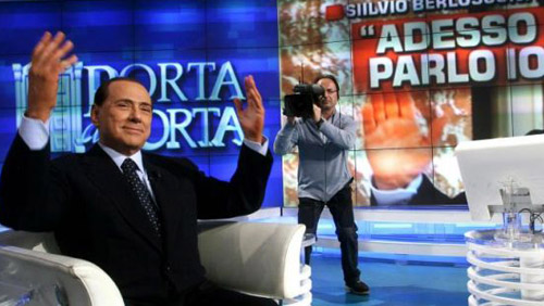 Silvio Berlusconi in TV