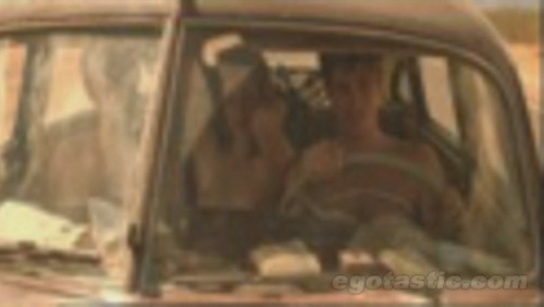 Kristen Stewart topless in On the road