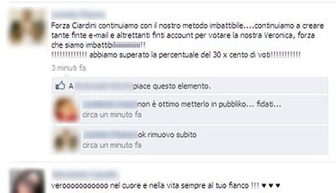 uMan Take Control: falsi profili per votare Veronica Ciardi?