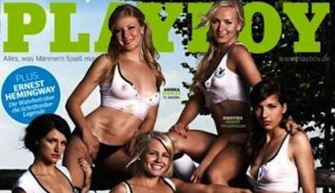 Calciatrici sexy su Playboy, foto