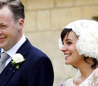 Lily Allen incinta alle sue nozze, foto
