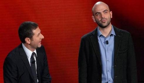 Roberto Saviano e Fabio Fazio insieme su La7