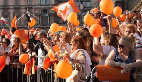 Festa per Giuliano Pisapia, foto di Laura Rodari