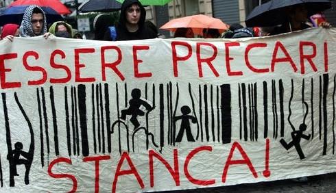 I precari protestano a Montecitorio