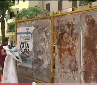 Manifesti pro referendum rimossi a Roma