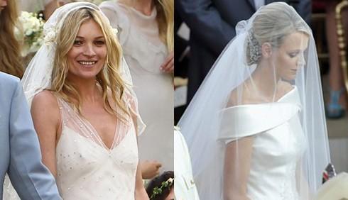 Charlene e Kate: abiti da sposa a confronto