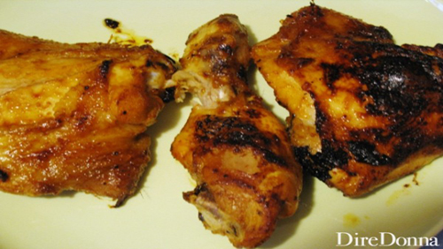 Smoked Louisville chicken thighs, cosce di pollo affumicate alla louisville
