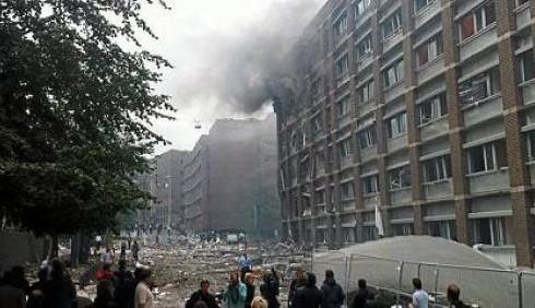 Esplosione a Oslo vicino la sede del Primo Ministro