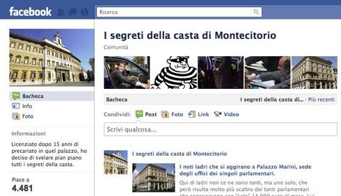 Svelati i misfatti dei politici, complice Facebook