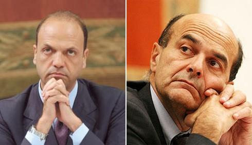 Scontro tra Pierluigi Bersani e Angelino Alfano a Ballarò