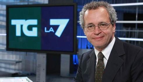 Enrico Mentana festeggia un anno di record a La7