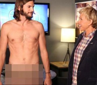 Ashton Kutcher nudo frontale, Demi Moore in topless