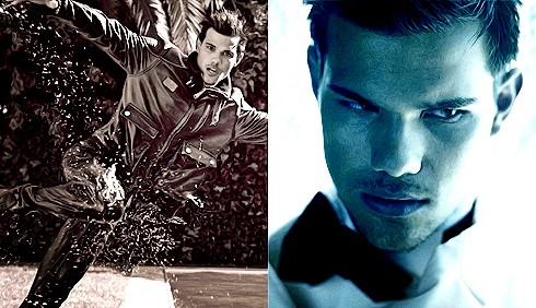 Taylor Lautner sexy e bagnato per L'Uomo Vogue