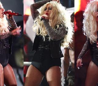 Christina Aguilera gonfia e goffa per Michael Jackson