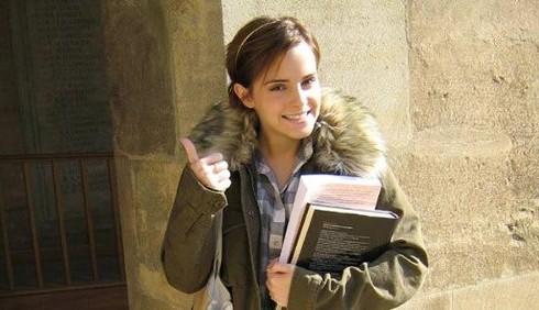 Primo giorno di università per Emma Watson